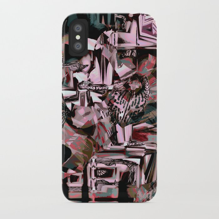 Cubist Abstract IPhone Case By Moodymuse