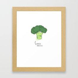 BROKEN BROCCOLI  Framed Art Print