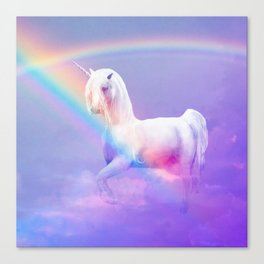 Unicorn and Rainbow Canvas Print
