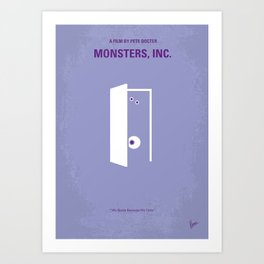 No161 My Monster Inc minimal movie poster Art Print