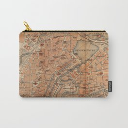 Vintage Map of Hamburg Germany (1910) Carry-All Pouch