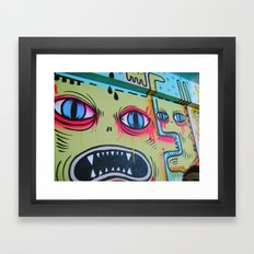 Monsters on the Wall Framed Art Print