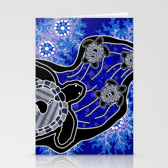 Baby Sea Turtles - Aboriginal Art by hogartharts