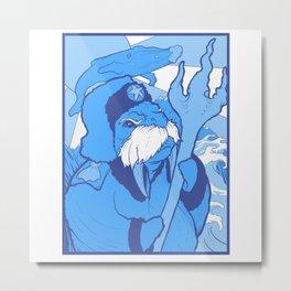 Ocean Uprising Metal Print