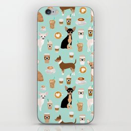 Chihuahua dog breed coffee pupuccino dog art chiwawas chihuahuas gifts iPhone Skin