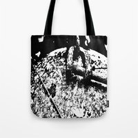2001 Tote Bags featuring 2001 by Alan Pary