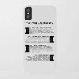 The Four Agreements by don Miguel Ruiz iPhone Case