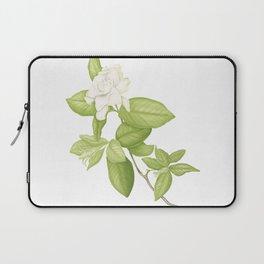 Gardenia Flower Laptop Sleeve
