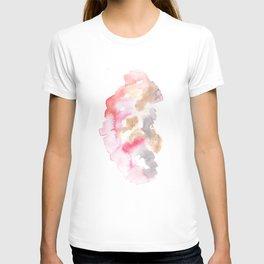 Watercolor Pink Black Flow   [dec-connect] 8. silkface T-shirt