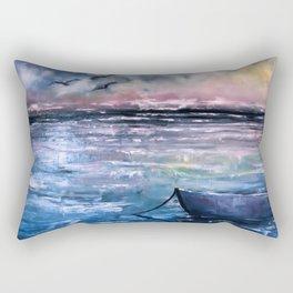 Coucher de soleil sur mer Rectangular Pillow