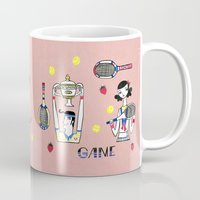 tennis Mugs featuring tennis by Hui_Yuan-Chang