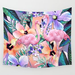 Flamingo Jungle Wall Tapestry