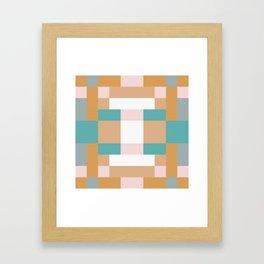 Creamy Pink Squares Framed Art Print