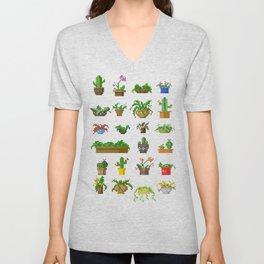 Pixel Plants Unisex V-Neck