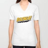 bazinga V-neck T-shirts featuring Bazinga by Maxx Hendriks