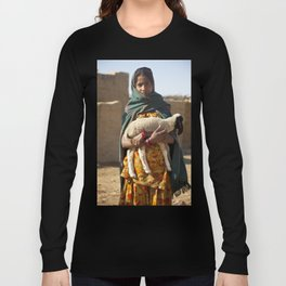 Girl with lamb  Long Sleeve T-shirt
