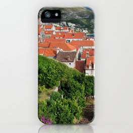 Red Tiled Houses In Dubrovnik Old Town iPhone Case