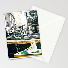 Little girl in Amsterdam Stationery Cards