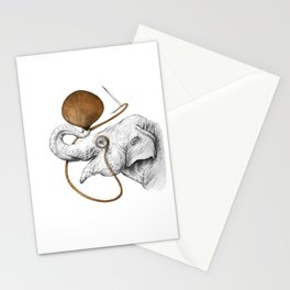 Copper Elephant Stationery Cards