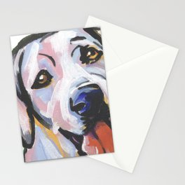 Yellow Lab Labrador Retriever Dog Portrait Pop Art painting by Lea Stationery Cards