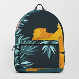 Jane and Fifi - Jane Goodall tribute illustration Backpack