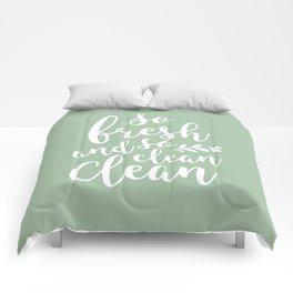so fresh so clean clean  / mint Comforters