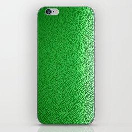 Green Crash I iPhone Skin