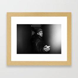 fingers back Framed Art Print