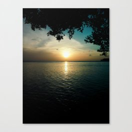 Sunset From L.G. Smith Boulevard, Aruba Canvas Print