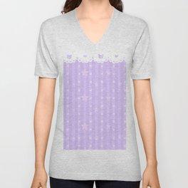Kawaii Purple Unisex V-Neck