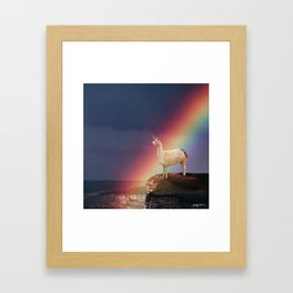 Llamacorn Framed Art Print