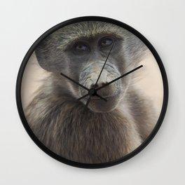 Baby Baboon Wall Clock