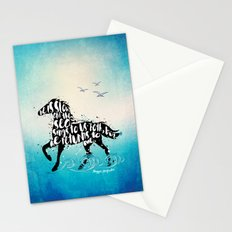 The Scorpio Races quote design Stationery Cards