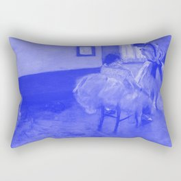 Classic Art - The Dance Lesson - Edgar Degas Rectangular Pillow