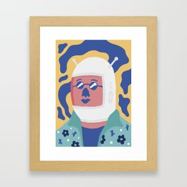 Space Tourist Framed Art Print
