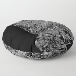 Los Angeles Black Map Floor Pillow