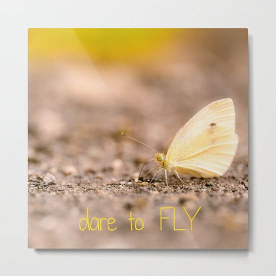 Dare to Fly Metal Print