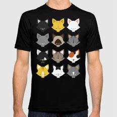 Cats, Cats, Cats Black Mens Fitted Tee MEDIUM