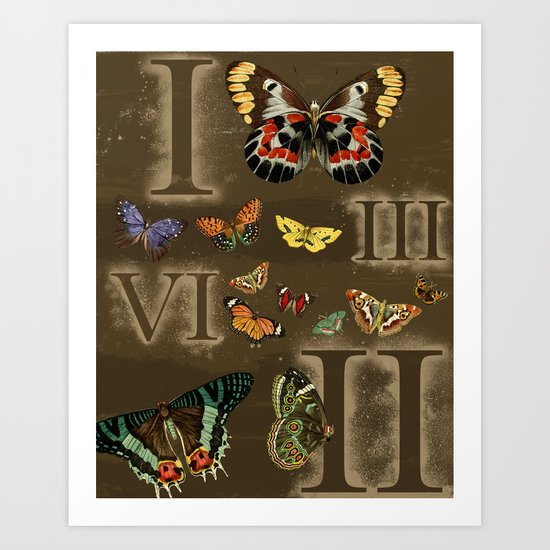 Let's Count Butterflies Art Print