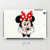 minnie mouse iPad Cases featuring Very cute Minnie Mouse by Yuliya L