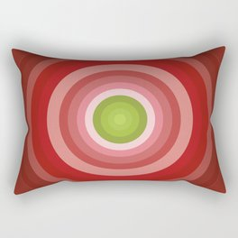 Beetroot Pink Circles Rectangular Pillow