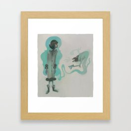 an ape gets it right the first time Framed Art Print