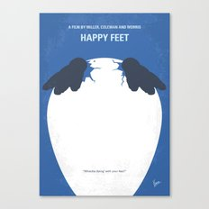 No744 My Happy Feet minimal movie poster Canvas Print