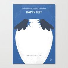 No744 My Happy Feet minimal movie poster Canvas Print