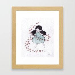 Flower hurricane Framed Art Print