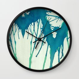 Watercolor Improvisation 3 Wall Clock
