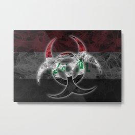Biohazard Iraq, Biohazard from Iraq, Iraq Quarantine Metal Print