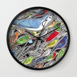 Birds of Costa Rica Wall Clock