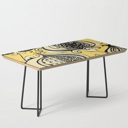 Black and Yellow Floral Coffee Table