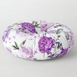 Elegant Girly Violet Lilac Purple Flowers Floor Pillow